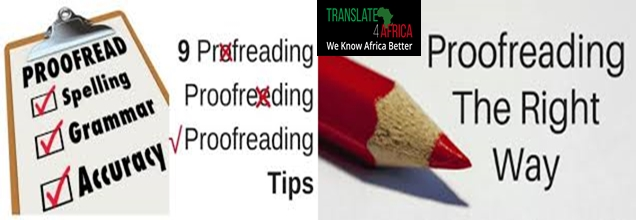 Proofreading principles